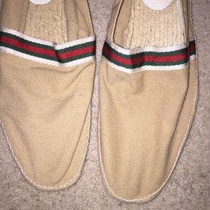 Gucci Loafers Espadrilles 10 M Beige